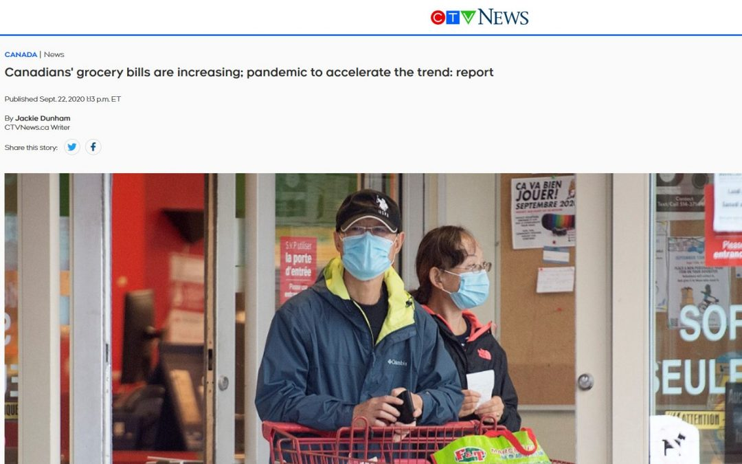 Canadians' grocery bills are increasing; pandemic to accelerate the trend: report